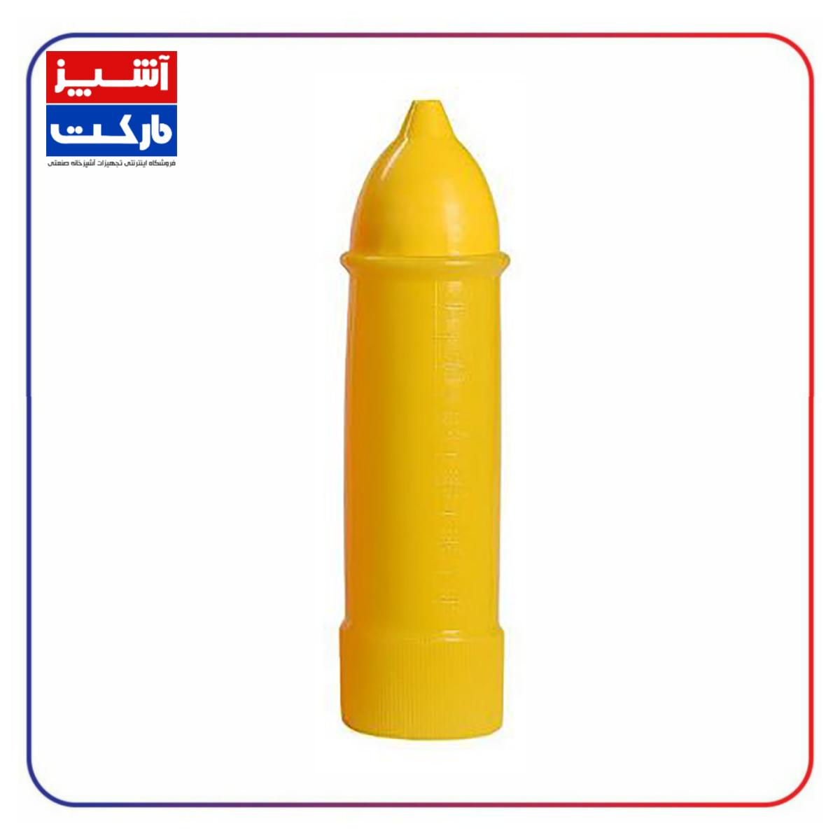 بطری سس تک موشکی زرد 700 سی سی