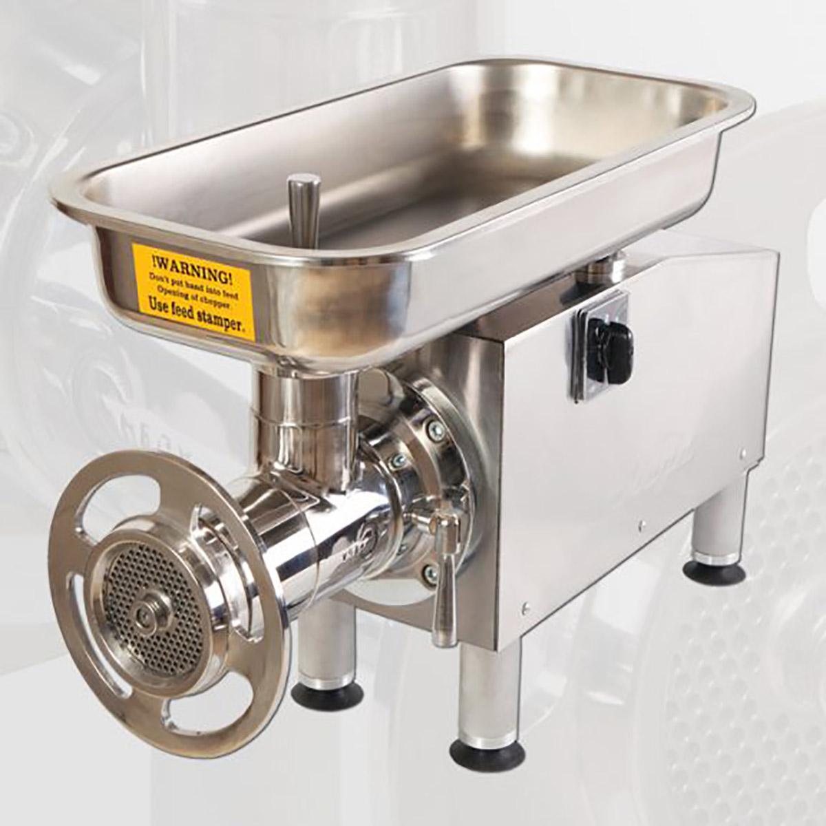 چرخ گوشت چگا 32 رومیزی استیل با موتور موتوژن CHEGA CT100-32