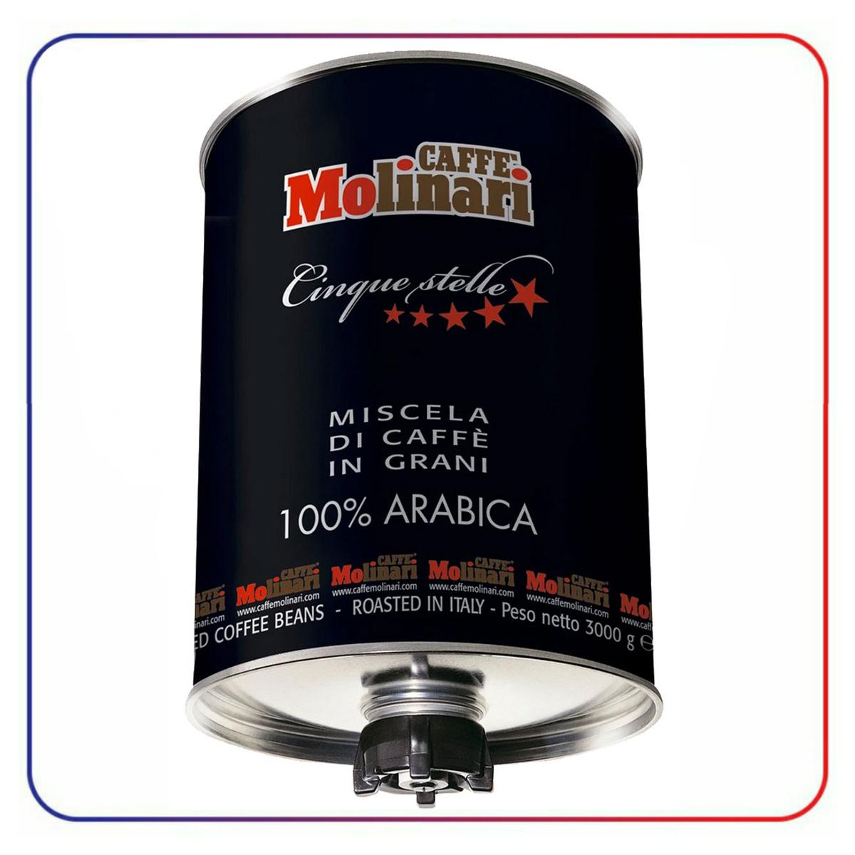 دانه قهوه مولیناری 100% عربیکا ( سیلندر ) 3 کیلو CAFFE MOLINARI