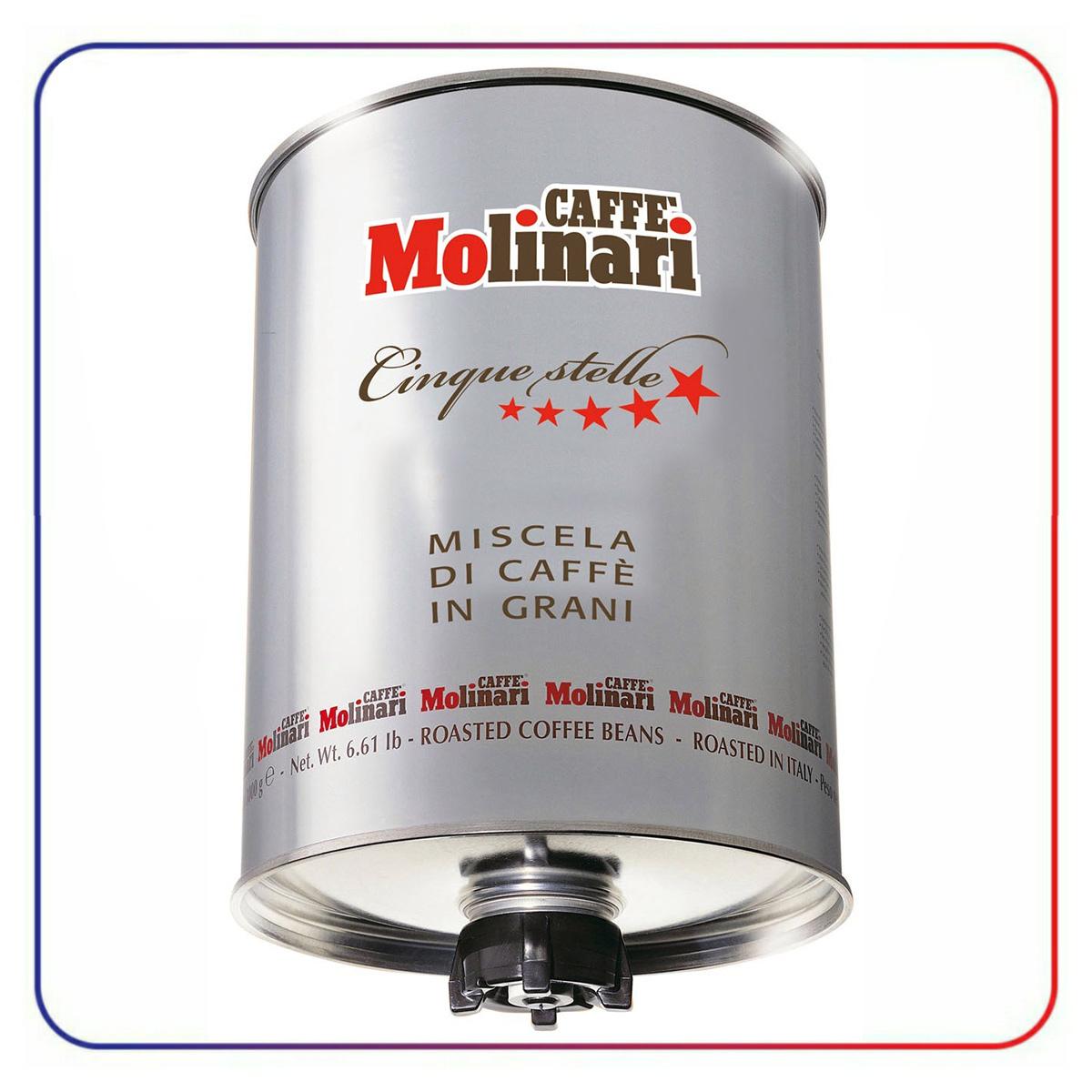 دانه قهوه مولیناری ( سیلندر ) 3 کیلو CAFFE MOLINARI