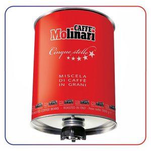 دانه قهوه مولیناری (سیلندر) 3 کیلو CAFFE MOLINARI