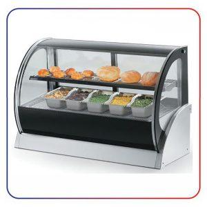 شو کیک شیرینی دیاموند شیشه خم 2 طبقه 150 سانتی DIAMOND DS 550 A